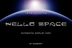 Hello Space Futuristic Display Font Product Image 1