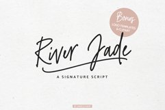 River Jade, signature font script, logos & bonus clipart Product Image 1