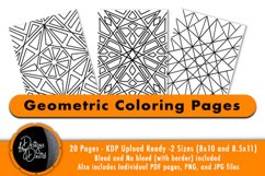 Geometric Coloring Pages - PDF,PNG, JPG files. Printable Product Image 1