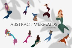 Abstract mermaids, vector illustration, magical creatures Product Image 1