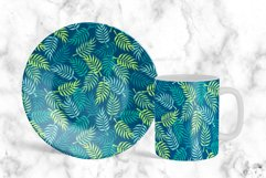 Palm tree leaves navy. Summer tropical seamless pattern. Product Image 6