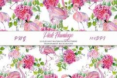 Pink Flamingo Seamless Patterns Product Image 6