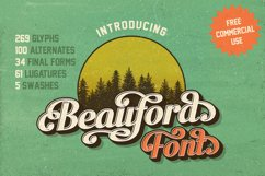 Beauford Font  Product Image 1