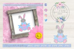Happy Easter Bunny SVG DXF Cut File LL178D Product Image 1