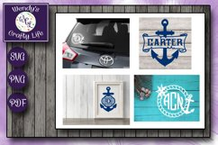 Nautical Monogram Bundle - 10 each in SVG, PNG & PDF format Product Image 2