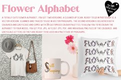 Flower Alphabet - vector and bitmap Product Image 5