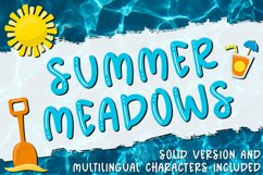 Summer Meadows - Shiny & Solid Fun & Quirky Font Product Image 1