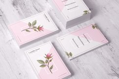 Pink Rose Business Card Template Product Image 5