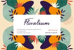 Floralium. Abstract botanical patterns set. Product Image 1