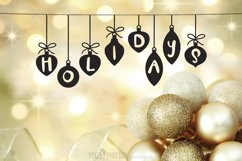 Christmas Font - Festive Balls Product Image 3