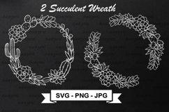 Cactus Wreath SVG Cut File - Succulent Frame SVG Product Image 1