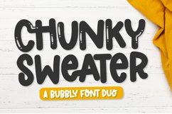 Chunky Sweater - A Bubbly Clean Font Duo Product Image 1