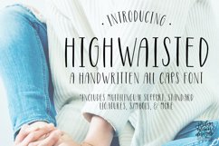 Highwaisted All Caps Skinny Font Product Image 1