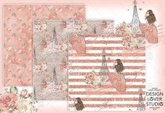 Paris je t'aime digital paper pack Product Image 5