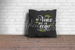 Be a voice not an echo, inspirational svg Product Image 2