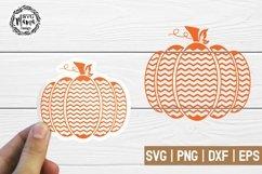 Chevron Pumpkin svg Product Image 1