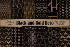 Black gold Art Deco backgrounds Product Image 1
