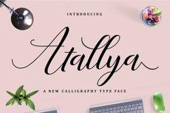 Web Font Atallya Script Product Image 4