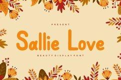 Web Font Sallie Love Display Font Product Image 1