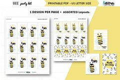 Bee themed party kit, kids party decor, bee first birthday Product Image 5
