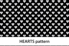 Hearts digital paper, heart color backgrounds Product Image 2