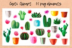 Watercolor Cactus. Cacti Patterns Product Image 2