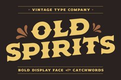 Old Spirits Display Font Product Image 1