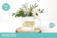 Cake Topper Bundle SVG | Happy Birthday SVG Bundle Product Image 3