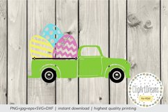 Easter egg truck Svg, Happy Easter truck Cut File Silhouette Product Image 3