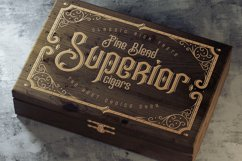 Tobacco Box Font, Mockups, Template! Product Image 3