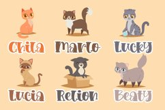 Loving kitten a Quirky Font Product Image 4