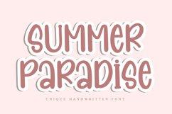 Summer Paradise - Unique Handwritten Font Product Image 1