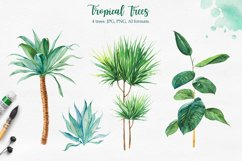 Tropical. Watercolor illustrations. Product Image 2