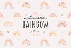 Watercolor Rainbow. Cute Patterns Product Image 1
