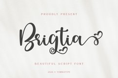 Brigtia Lovely Swash Font Product Image 1