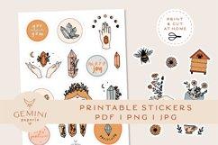 Gemstone Printable Stickers   Cricut Design Sticker Sheet Product Image 3