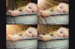 Golden light photoshop overlays Product Image 2