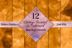Orange Painted and Patterned Backgrounds - 12 Image Textures Product Image 1