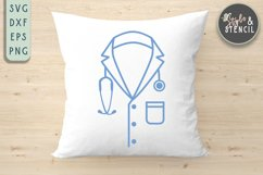Doctor Coat SVG | Stethoscope | Healthcare Product Image 3