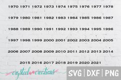 Dad's Club with years SVG, DXF, PNG Product Image 2