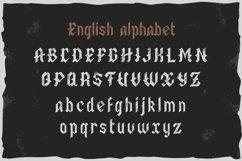 Old Biker. Gothic style vintage label font. Product Image 3