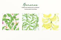 Watercolor Banana Clipart Product Image 4
