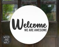 Welcome We Are Awesome SVG   Entry Cut File Product Image 3