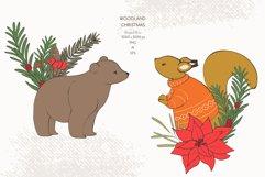 Christmas Woodland Animals Clipart Product Image 3