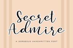 Secret Admire Handwritten Font Product Image 1