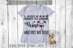 i just want to drink wine and Pet my Dog, Cat, Rescue Bund Product Image 3