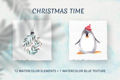 Christmas time. Watercolor elements Product Image 1