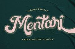 Mentari - Bold Script Font Product Image 1