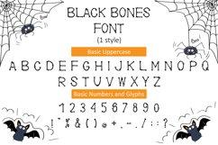 Black Bones Halloween Font Product Image 2