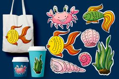 Cartoon characters for cards, flyers, banners. Underwater Product Image 1